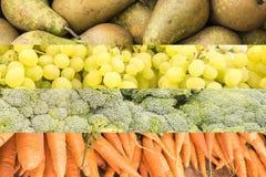Gruppe Obst und Gemüse Stockbilder