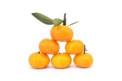 Gruppe Orangen stockfoto