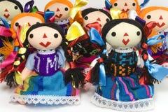 Gruppe otomi Puppen Stockfotografie