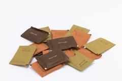 Gruppe Papier Sugar Bag Design Lizenzfreies Stockfoto