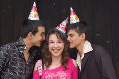 Gruppe Partyfreunde stockfotos