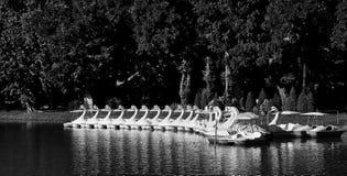 Gruppe Pedalboote lizenzfreie stockbilder