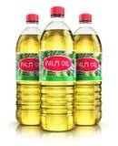 Gruppe Plastikflaschen mit Palmöl stock abbildung