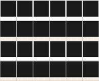 Gruppe polaroidabbildungen Stockfoto