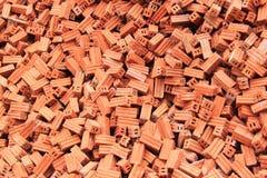 Gruppe quadratische Baumaterialien der Ziegelsteine Stockfoto