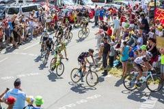 Gruppe Radfahrer auf Col. du Glandon - Tour de France 2015 Stockbilder