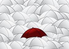 Gruppe Regenschirme Lizenzfreie Stockfotografie