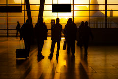 Gruppe reisende Leute Stockfotografie