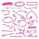 Gruppe rosa Pfeile Stockbild