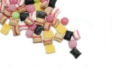 Gruppe Süßigkeiten und Sweeties. Lizenzfreie Stockbilder