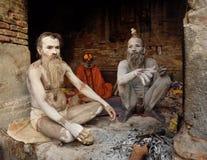 Gruppe sadhu Stockfotos