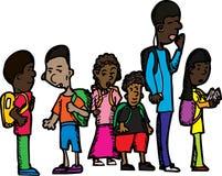 Gruppe Schulkinder Stockfoto