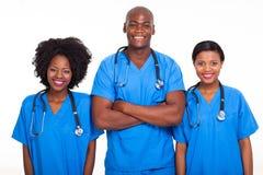 Schwärzen Sie Doktorkrankenschwestern stockbild