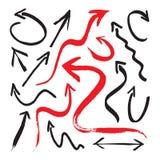 Gruppe schwarze und rote Pfeile Lizenzfreie Stockbilder