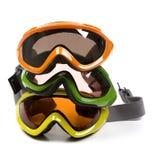 Gruppe Ski-Schutzbrillen Stockfotos