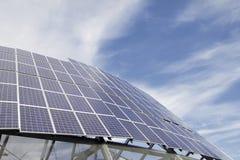 Gruppe Sonnenkollektor-Module lizenzfreies stockbild