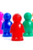 Gruppe Spielzeugleute Stockbild