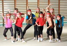 Gruppe sportliche Mädchen Stockbild