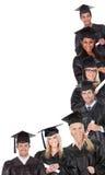Gruppe Studenten im Aufbaustudium lizenzfreie stockbilder