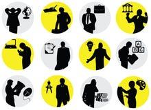 Gruppe symbolische Leute Lizenzfreie Stockfotos