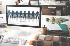 Gruppe Team Work Organization Concept Lizenzfreies Stockbild
