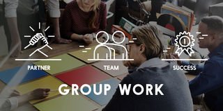 Gruppe Team Work Organization Concept Stockbilder