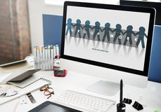 Gruppe Team Work Organization Concept Stockfoto