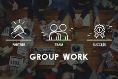 Gruppe Team Work Organization Concept Lizenzfreie Stockfotos