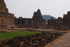 Gruppe Tempel in der Stadt von Pattadakal in Indien Lizenzfreie Stockfotografie