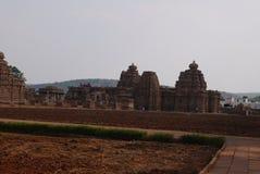 Gruppe Tempel in der Stadt von Pattadakal in Indien Stockfoto