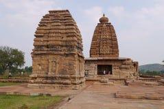 Gruppe Tempel in der Stadt von Pattadakal in Indien Stockbilder