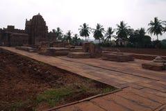 Gruppe Tempel in der Stadt von Pattadakal in Indien Lizenzfreie Stockfotos