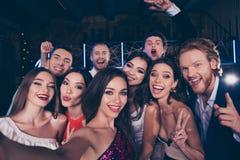 Gruppe Verschiedenartigkeit attraktiv, herrliche, stilvolle, modische Freunde lizenzfreies stockbild