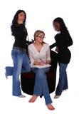 Gruppe Verschiedenartigkeit-Frauen Discu stockfoto