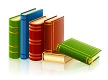 Gruppe verschiedene Bücher mit leerer Abdeckung Stockbild