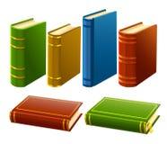Gruppe verschiedene Bücher mit leerer Abdeckung Lizenzfreies Stockfoto