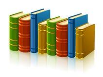 Gruppe verschiedene Bücher mit leerer Abdeckung Stockfotografie