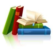 Gruppe verschiedene Bücher mit Leerseiten Lizenzfreie Stockfotos