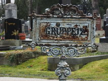 Gruppe 12, Vienna Cementery. One line of Vienna Main Cementery, Austria Royalty Free Stock Images