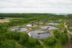 Gruppe von den großen Sedimentbildungentwässerungen. Lizenzfreie Stockfotos