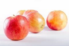 Gruppe von fünf Äpfeln lizenzfreie stockbilder