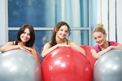 Gruppe von finess Frau Lizenzfreies Stockfoto