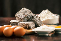 Gruppe von Lamingtons Stockfoto