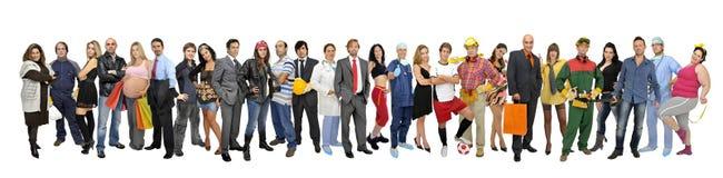 Gruppe von Personen Lizenzfreie Stockfotos