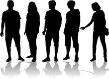 Gruppe von Personen Stockfoto