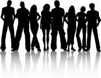 Gruppe von Personen Stockbild