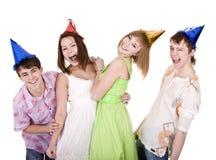 Gruppe von Personen an den Sommerferien. Stockbild