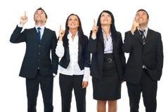 Gruppe von Personen, die oben zeigt Stockfotografie