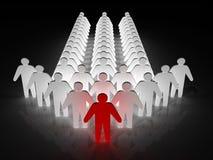 Gruppe von Personen, die von einem Führer geführt wird Lizenzfreie Stockbilder