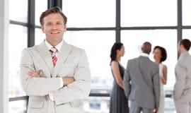 Gruppe von Personen in einem Geschäftstreffen Stockfoto